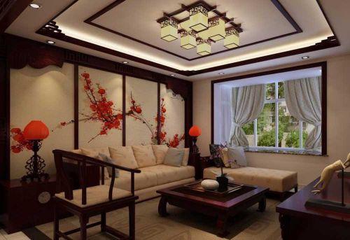 中式雅韵客厅装修效果图