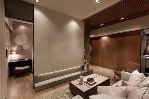 雅致中式风格客厅装潢案例