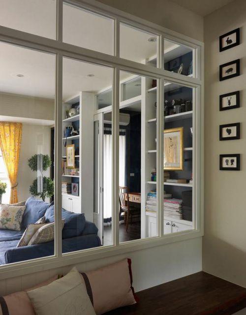 清新田园风格白色客厅装潢设计