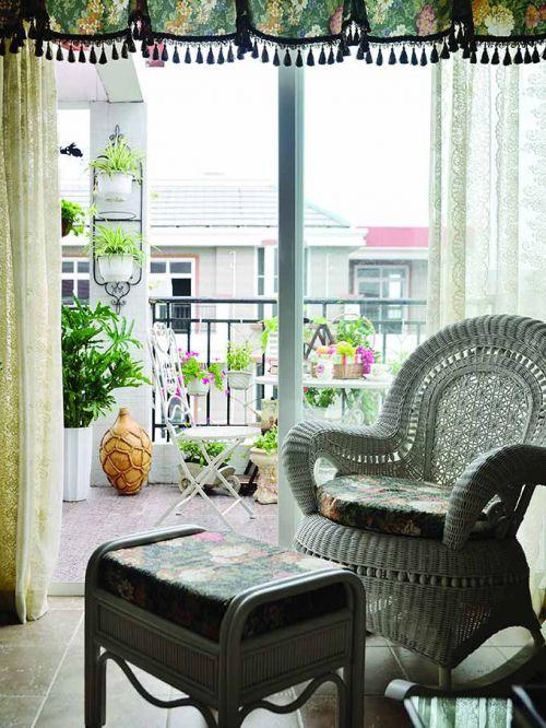 绿色田园客厅装修效果图