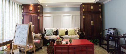 美式田园装饰客厅实景图