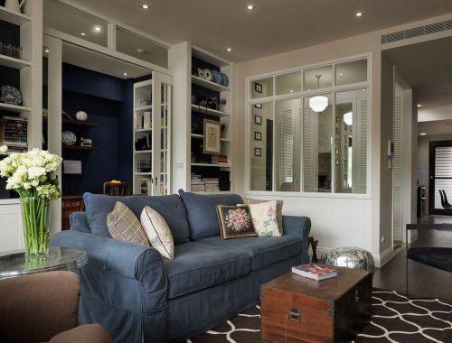 白色清新田园风格客厅装修欣赏