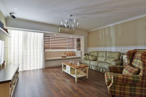 米色清新田园风格客厅设计图
