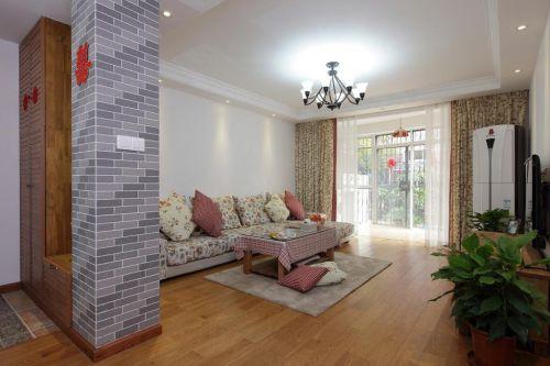 清新白色田园风格客厅图片欣赏