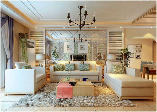 田园风格米色客厅设计案例