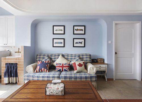 蓝色浪漫英伦范田园风格客厅美图赏析