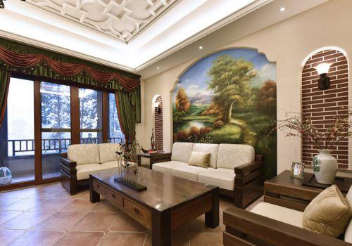 壁画风景田园沙发背景墙欣赏
