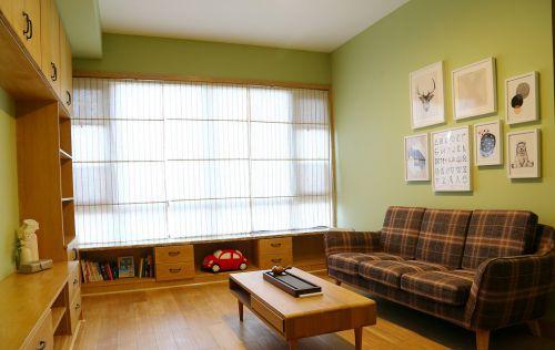 居家田园小清新舒适客厅装修设计