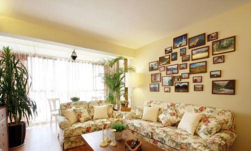 温馨田园风格客厅装修设计欣赏