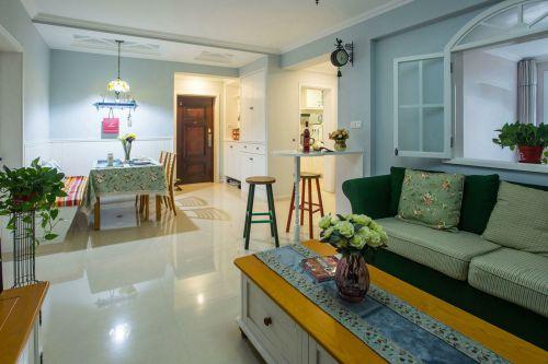 田园风格创意彩色客厅装修效果图片