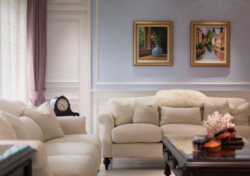 田园素雅舒适温馨米色客厅设计