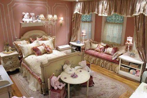 粉色浪漫田园风格卧室装潢