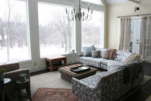 白色素雅田园风格客厅装潢案例