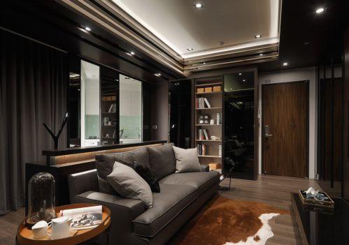 黑色浪漫时尚现代客厅装修图片