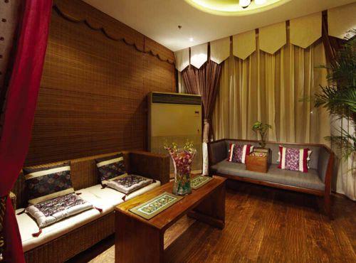 现代黄色质朴客厅装修效果图