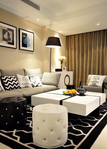 现代风格客厅设计装潢
