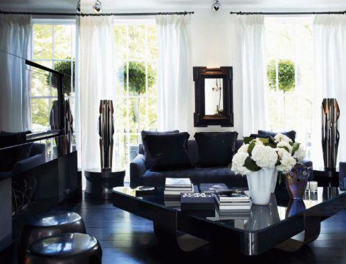 黑色质感现代风格客厅美图赏析