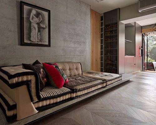 质感灰色现代风客厅装潢欣赏