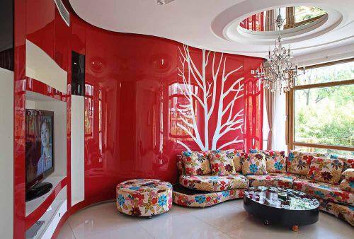 现代创意质感客厅装修案例