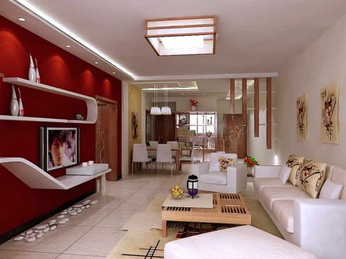 热情创意现代风格客厅装潢装饰