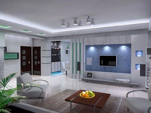 时尚简洁舒适现代风格客厅设计效果图