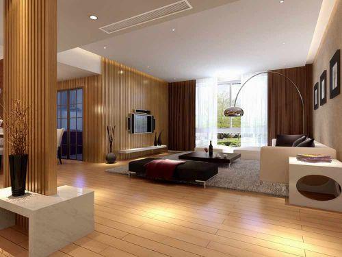 自然时尚现代风格客厅整体装修效果图