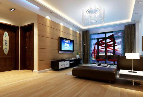 沉稳舒适现代风格客厅装修