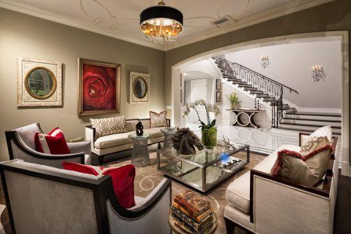 现代风格米色雅致客厅装饰图