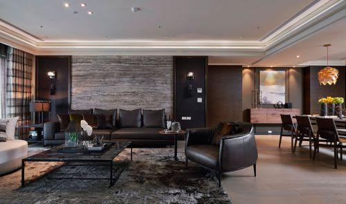现代风格黑色客厅装修图片欣赏