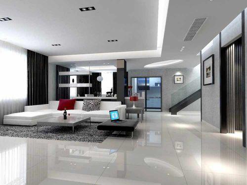 低调大气现代风格客厅装修案例