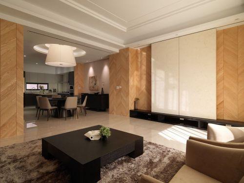 简洁现代风格客厅装修布置欣赏2016