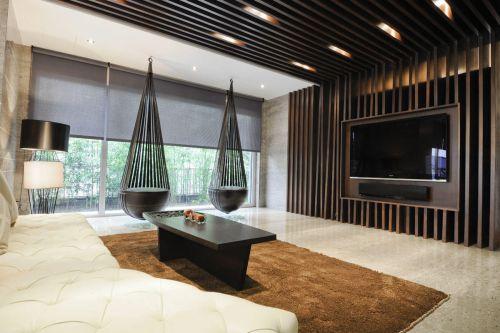 现代创意个性客厅装潢设计