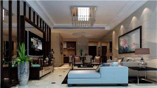 中式现代客厅装修案例欣赏