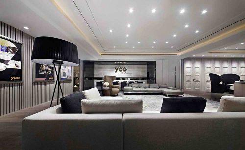 明亮个性现代风格客厅布置
