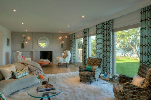 现代风格清新米色客厅装修图