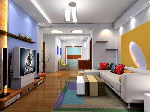 创意摩登个性现代风格客厅装修效果