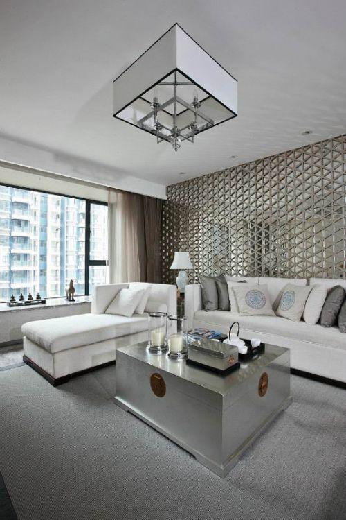 简洁现代风格客厅设计装修