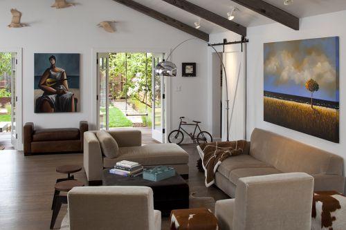 现代风格灰色舒适客厅装修设计