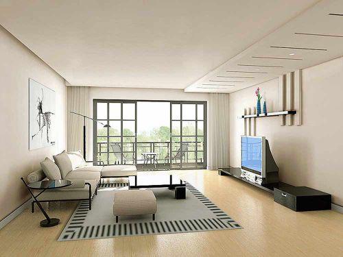 线条感时尚现代客厅设计装潢设计