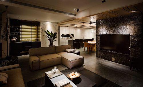 现代风格质感灰色客厅装修设计