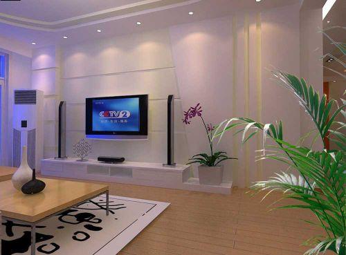 现代简洁清新客厅装修