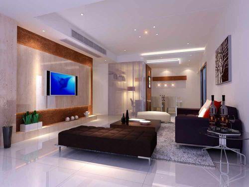 简约精致现代风格客厅布置