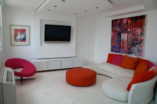 艺术感创意现代风格客厅家装效果图
