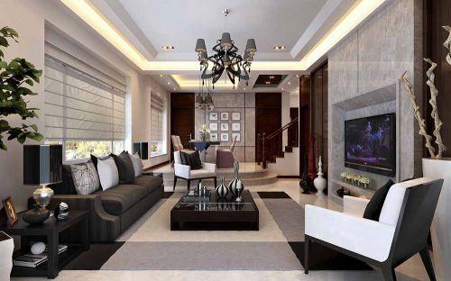 2015现代客厅装修设计图