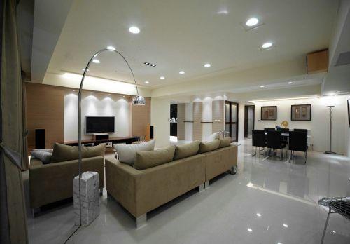 现代风格素雅米色客厅装修美图赏析