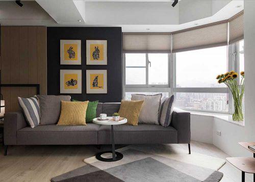 灰色时尚现代风格客厅装修