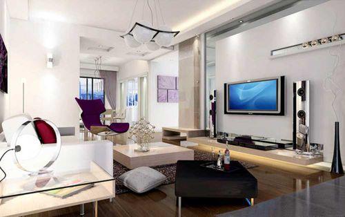 高雅现代时尚精美客厅布置