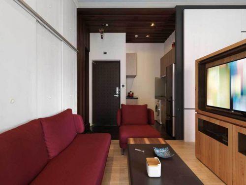 简洁现代风格客厅效果图欣赏
