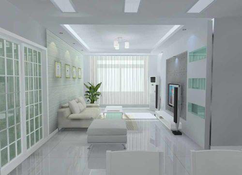纯白时尚现代客厅装修案例