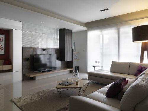 现代简洁灰色客厅设计案例